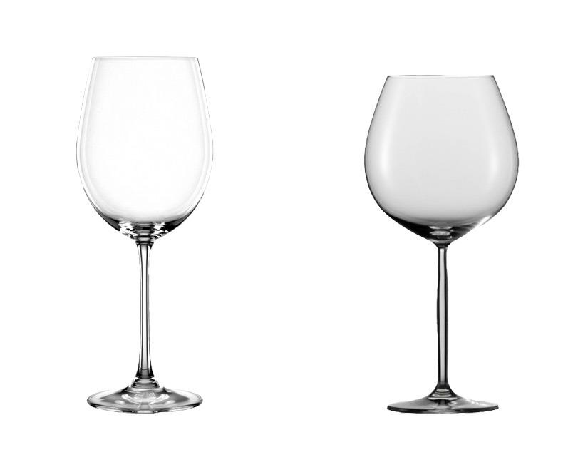 Taça adequada para servir vinho tinto