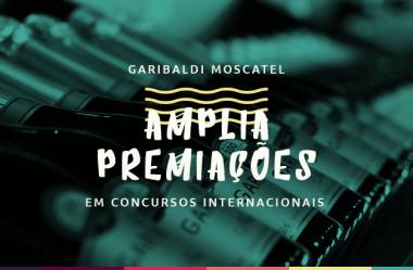 Garibaldi Moscatel amplia premiações em concursos internacionais